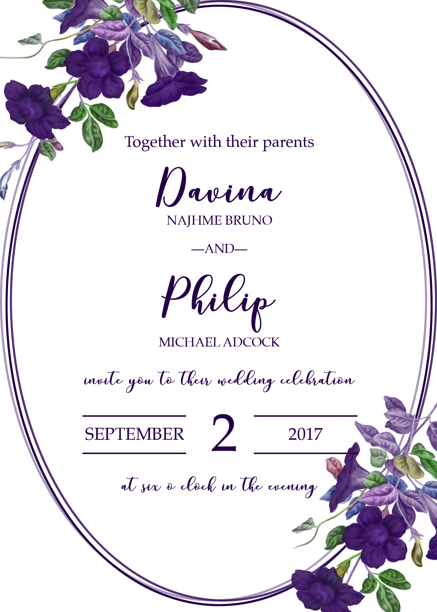 Philip Adcock_Wedding Invitation